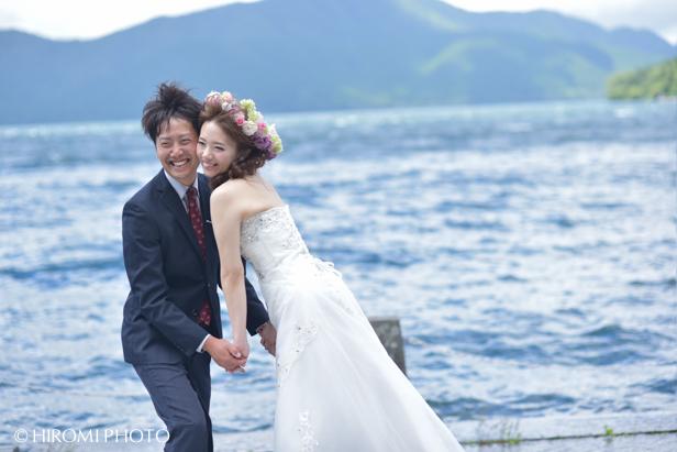 箱根芦ノ湖にて結婚式ロケフォト_101s