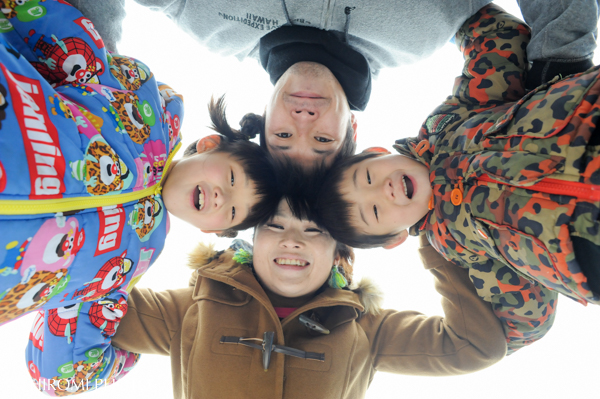 プロフィール用家族写真撮影