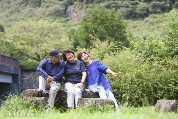 湯河原幕山公園にて家族写真