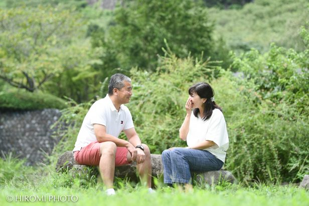 湯河原幕山公園にて夫婦フォト