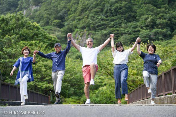 幕山公園にて家族写真