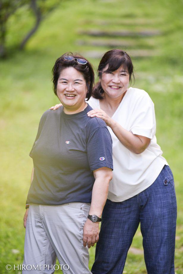 湯河原幕山公園にて姉妹写真