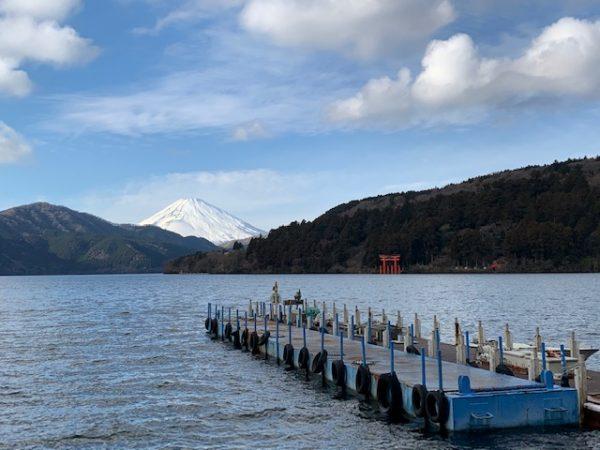 芦ノ湖と富士山