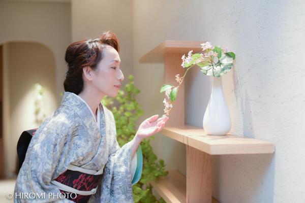 熱海日本料理凛さんにて着物美人