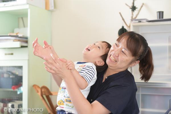 母と子と icco icco にて