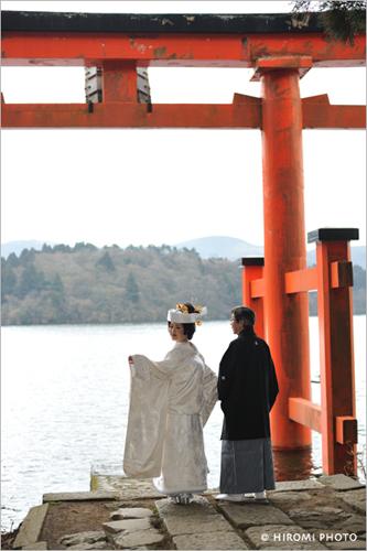 箱根芦ノ湖畔にて