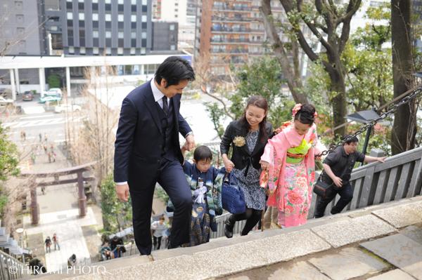 愛宕神社にて出世の石段