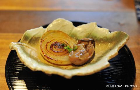 新たまねぎソテーと牡蠣のしぐれ煮