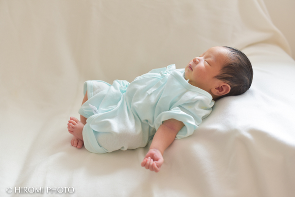 自宅で新生児撮影