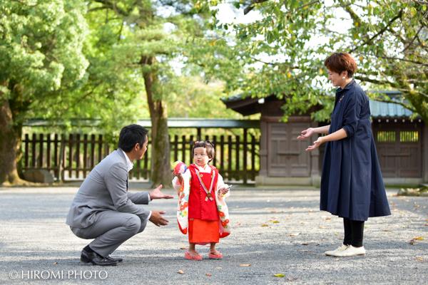 三嶋大社にて七五三詣り