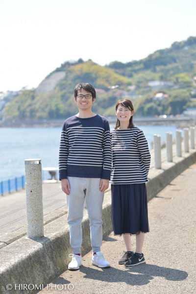 A couple photo at Yugawara Seaside