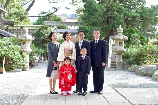 森戸神社にて七五三